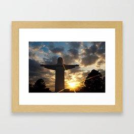 He Is Risen - Christ of the Ozarks - Eureka Springs Arkansas Framed Art Print