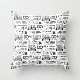 Daily Orange Pattern Throw Pillow