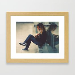 Blue Chucks  Framed Art Print