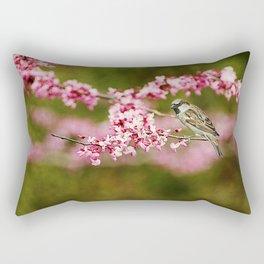 Spring Redbud Rectangular Pillow