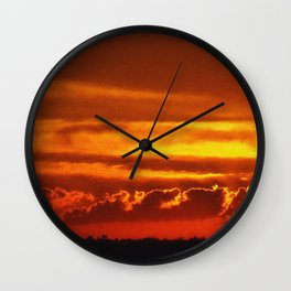Sunset Layers | Ferntree Gully Wall Clock