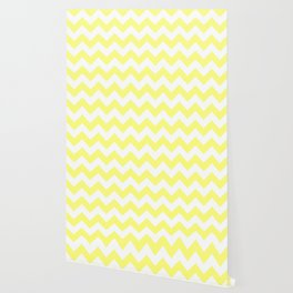 Butter Yellow Chevron Wallpaper