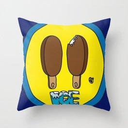 Icecream Smiley Throw Pillow