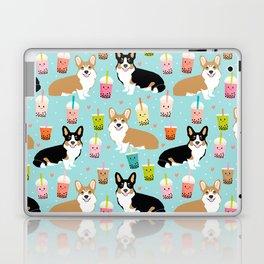 Corgi boba tea bubble tea kawaii food welsh corgis dog breed gifts Laptop & iPad Skin