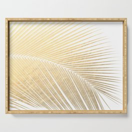 Palm leaf - gold Serving Tray
