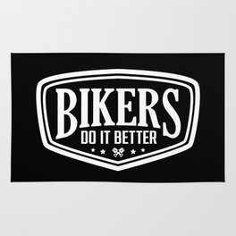 BIKERS DO IT BETTER SHIELD Rug