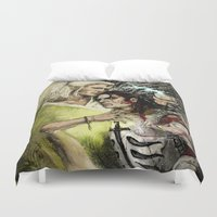 "the cure Duvet Covers featuring Dragon Age - Templar and Apostate Mage - Cure by Barbara ""Yuhime"" Wyrowińska"