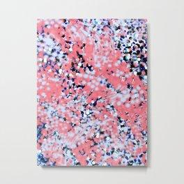 snow dots on coral Metal Print