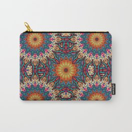 Colorful abstract ethnic floral mandala pattern design Carry-All Pouch