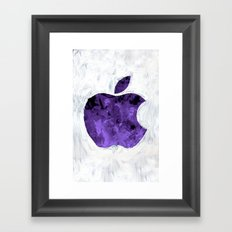 PURPLE Painted Apple Framed Art Print