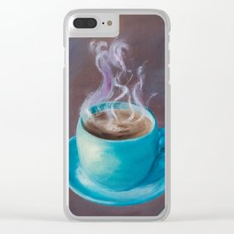 Hot Steamy Coffee Clear iPhone Case