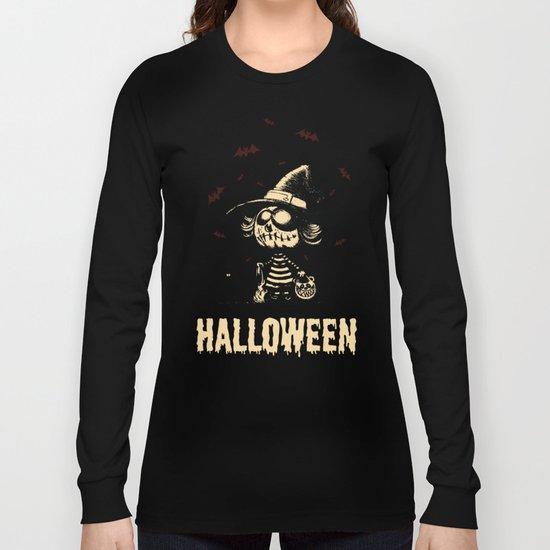Halloween pumpkin girl Long Sleeve T-shirt