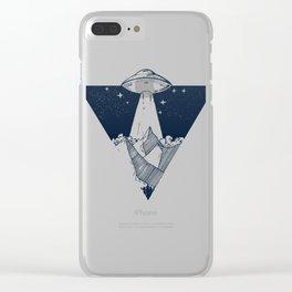 UFO INVASION Clear iPhone Case