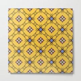 Абстрактные бесшовные модели желтого цвета для обоев и фона. Metal Print