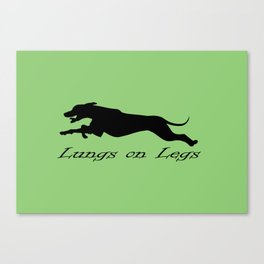 Lungs on Legs Canvas Print
