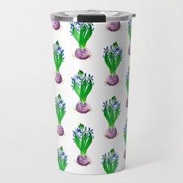 Christmas Hyacinth Flower Watercolor Decor Travel Mug