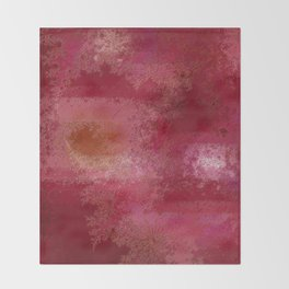 Pink and Red Moon Throw Blanket