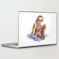 sloth Laptop & iPad Skins featuring Sloth by KteaCrumpet