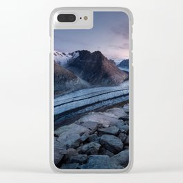 Sunrise On A Mountain Ridge Clear iPhone Case