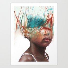 Creative coiffure Art Print