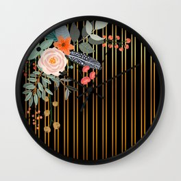 Floral bouquet #4 Wall Clock