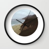 big sur Wall Clocks featuring Big Sur by mzsphoto