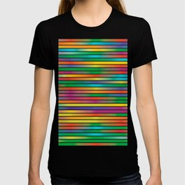 Pop Art Gradient Colors Striped Spectrum Pattern T-shirt