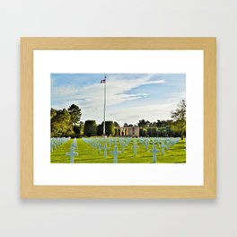 Normandy American Cemetery Framed Art Print