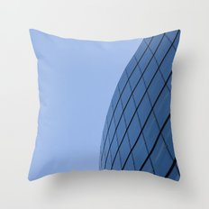 The Blue Curve Throw Pillow