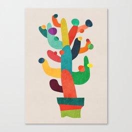 Whimsical Cactus Canvas Print