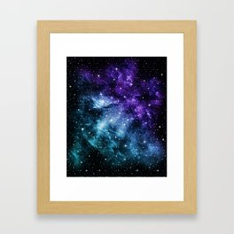 Purple Teal Galaxy Nebula Dream #1 #decor #art #society6 Framed Art Print