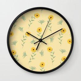 Sunshine Florals Wall Clock