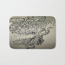 Alien Ink Doodle Bath Mat