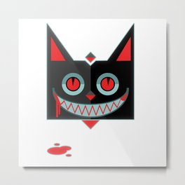 gato sinistro Metal Print