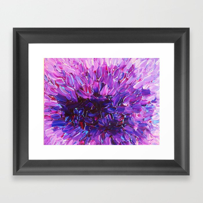 Purple Eggplant Aubergine Kitchen Wall Decor Poster: Beautiful Purple Floral Abstract, Modern