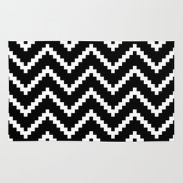 Tribal Chevron W&B Rug