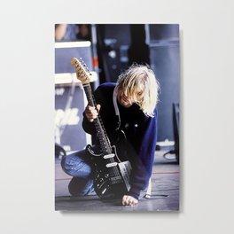 KurtCobain Guitar Poster, Kurt#Cobain Metal Print