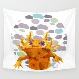 Bubbles Axolotl Wall Tapestry
