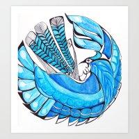 Little Jay Blue Art Print