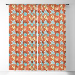 Terracotta Cacti Blackout Curtain