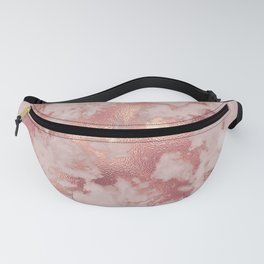 Copper Metal Veins on Marble Fanny Pack