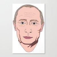 putin Canvas Prints featuring Putin by Ricardo Miranda Zuniga