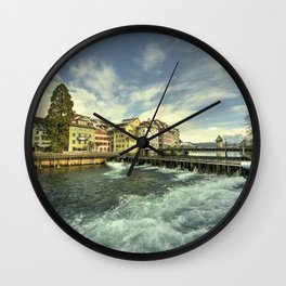 Weir of Lucerne Wall Clock