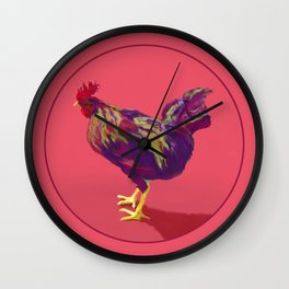 FAUVE ROOSTER Wall Clock