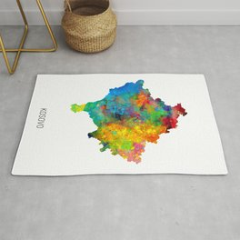 Kosovo Watercolor Map Rug