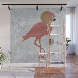 Rose Gold Flamingo Wall Mural