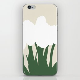 White Tulips | Abstract Illustration iPhone Skin