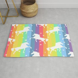 Rainbow Unicorns Rug
