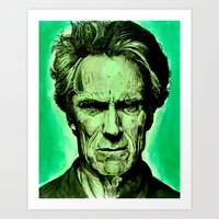 clint eastwood Art Prints featuring Clint Eastwood by Jason Hughes