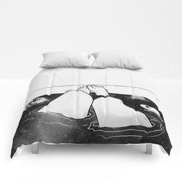 Magical bath tube. Comforters